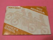 1985 Honda XR100R XR 100 R Owners Manual # 00X31-KN4-6000 31KN4600