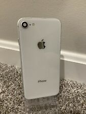 Original Iphone 8 White Mid Frame Housing Glass With Small Parts