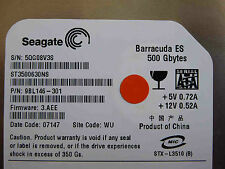 500 GB Seagate ST3500630NS / 9BL146-301 / 3.AEE / WU / disco rigido / hard disk