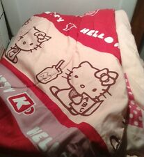 Hello Kitty Bedding Twin Bed Comforter Reversible PInk