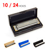 Blues Harmonica Key of C Tremolo French Harp for Beginners and Kids 10 24 Holes