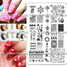 New Design Christmas DIY Nail Art Image Stamping Plates Manicure Template #MR-02