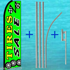 Tires Sale Swooper Flag + Pole Mount Kit Tall Advertising Feather Flutter Banner