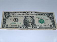2009 $1 Bill US Bank Note Ohio Zip Code Set Of 0s 000 10731 Fancy Money Serial #