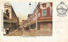 Honolulu Hawaii Fort Street Greetings Private Mail Antique Postcard J77686