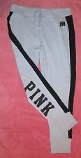 Victorias Secret PINK Lace Up Skinny Collegiate Pant Light Lavender /Black M NWT