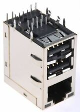 Bel-Stewart MagJack, RJ45+Dual USB Way Right Angle Through Hole STP RJ Socket Mo