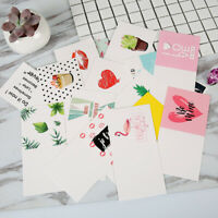 10pcs/set Cartoon Birthday Greeting Cards Blank New Year Greeting Postc JR