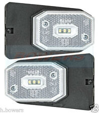 2x Blanc DEL Front Marker Light Lampe Ifor Williams, Brian James Remorques comme Aspock