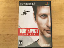Tony Hawk Project 8 Playstation PS 2 Video Game w/Instruction Manual Activision