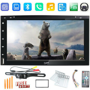 """HD Touch Screen Double 2DIN Car CD Stereo DVD Player Bluetooth Radio 6.95"""" CCD"""