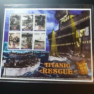 1998 MADAGASCAR Titanic Mini Sheet MNH ''Int. Collector's Society'' TT17 + COA