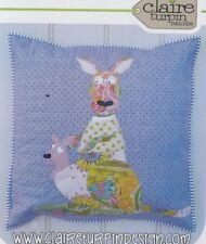 PATTERN - Boomer & Bess - cute applique kangaroo cushion PATTERN - Claire Turpin