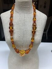 Vintage Baltic Natural Cognac Amber Beads Necklace 18""