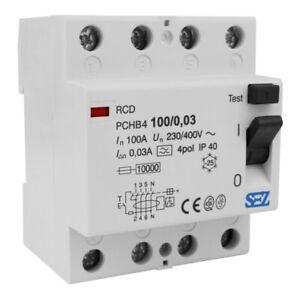 Fi-Schalter 100A 30mA 4p 10kA TYP A Fehlerstromschutzschalter FI-Schutzschalter