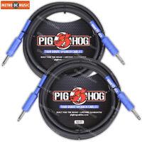 2-Pack Pig Hog 9.2mm Speaker Cable Cord 10ft (14 gauge wire)