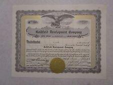 Halifax Tonopah Mining Company   1902  Nevada Corporation