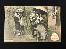 Vintage Postcard SEEING IS BELIEVING Romance Romantic JWS2750