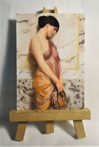 The Tambourine ACEO Original PAINTING by Ray Dicken a John William Godward