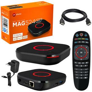 MAG 524w3 IPTV Receiver BOX HEVC H.265 USB Multimedia Player UHD Linux 4K LAN TV
