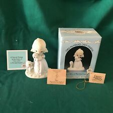 """New ListingPrecious Moments 1984 """"Pm-851"""" """"The Lord Is My Shepherd"""" New In Box -Mint"""