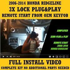 Plug Amp Play Remote Start 2006 2014 Honda Ridgeline 3x Lock Fits Honda