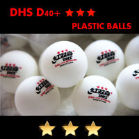 Double Happiness DHS D40+ 3Star Table Tennis Plastic Balls White Orange PingPong