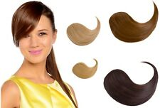 NEW LADY 2 CLIP ON IN SIDE HAIR BANG FRINGE HAIR EXTENSIONS HUMAN STYLE STRAIGHT
