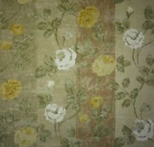 OSBORNE AND LITTLE Rossellino Stripe Floral Gold Green White Remnant New