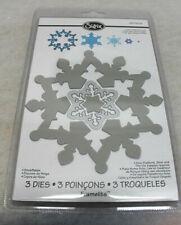 Sizzix Framelits Die Set 3PK Stanzformen Snowflakes 657909 NEU A