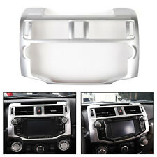 Central Control Navigation Panel Trim Cover For Toyota 4Runner 2010+ Silver