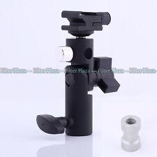 "Flash Shoe Umbrella Holder Light Stand Bracket Type E-III 1/4""3/8""Screw for DSLR"