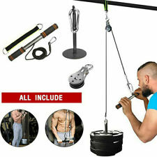1 Set Fitness Pulley Cable System Lifting Machine Tricep Training Weight Workout