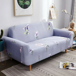 Washable Stretch Elastic Fabric Sofa Cover Couch Covers Slipcover 1-4 Seater Set