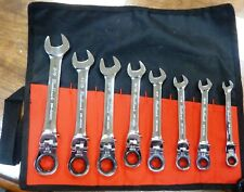 BLACKHAWK by PROTO 8-Piece SAE Ratcheting Chrome Combination Wrench Set Flex NEW