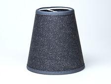 Lampenschirm zum Aufstecken Anthrazit Mit Glitter Effekt für Kronleuchter