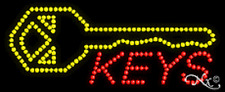 "Brand New ""Keys"" 27x11 W/Logo Solid/Animated Led Sign W/Custom Options 20084"