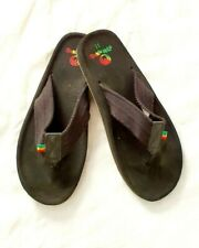Mens Ocean Minded  Sandals Flip Flops Size 11 Black Surfers for the Ocean