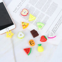 1Pc Cute Fruit Cable Saver Cover Phone USB Bite Charger Data Cord Protector I2