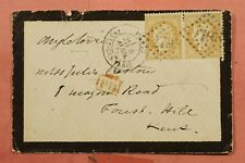 DR WHO 187? FRANCE MOURNING COVER PARIS TO GB 165713