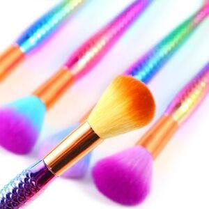 Mermaid Rainbow Nail Art Acrylic Brush beauty cosmetic Powder makeup tool Blush