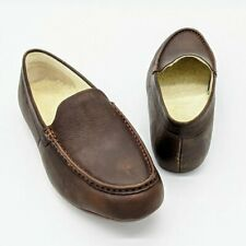 Vionic Men's Brown Tompkin Leather Loafer Slippers Size 11.5