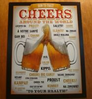 CHEERS AROUND THE WORLD SIGN Dorm Beer Mug Bar Pub Tavern Home Decor Sign NEW