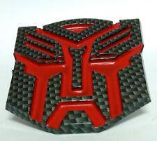 Carbon Fiber Transformers Autobot Emblem Badge Decal Trunk Sticker For Brave Man