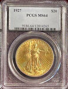 1927 $20 Gold Saint Gaudens PCGS MS64
