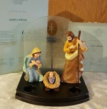 Nib Partylite Heirloom Nativity  Creche & Figurines P9103 & P9100S