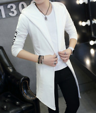 Stylish Men's Coat Casual Trench coat Warm Hooded Outwear Slim Long Jacket A676