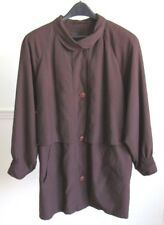 GALLERY Brown Coat with Removable Lining, Decorative Stitching M