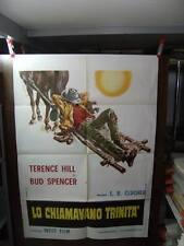 LO CHIAMAVANO TRINITA' MANIFESTO ORIGINALE BUD SPENCER & TERENCE HILL