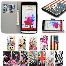 Mobile Phone Leather Flip Wallet Stand Pocket Cover Case Skin Pouch For LG Phone